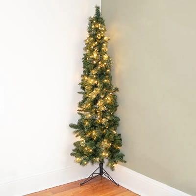 7ft Half Christmas Tree with 250 White Lights