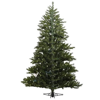 9ft. Green Artificial Half Christmas Tree with 750 Clear Lights