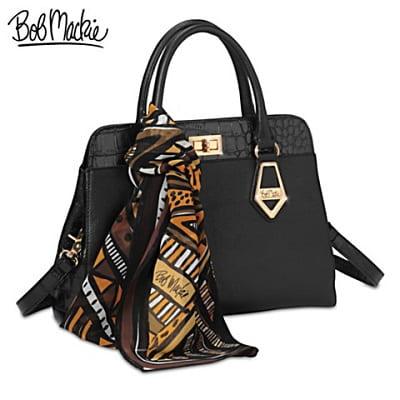 Bob Mackie Rodeo Drive Satchel-Style Leather Handbag