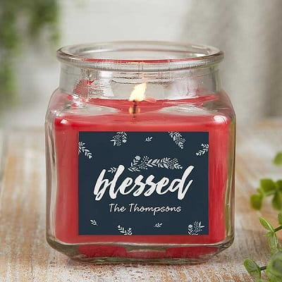 Cozy Home Personalized Candle Jar