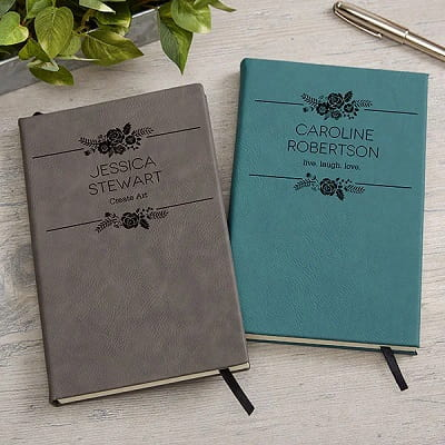 Floral Accents Personalized Writing Journal