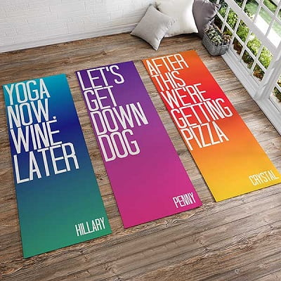 Funny Yoga Phrases Personalized Yoga Mat