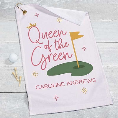 Queen of the Green Personalized Golf Towel