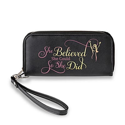 She Believed She Could Inspirational Women's Clutch Wallet