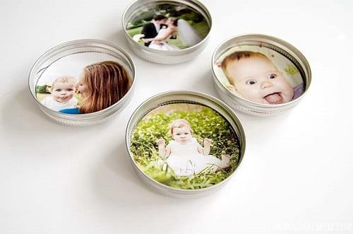 Upcycled Mason Jar Lid Magnets